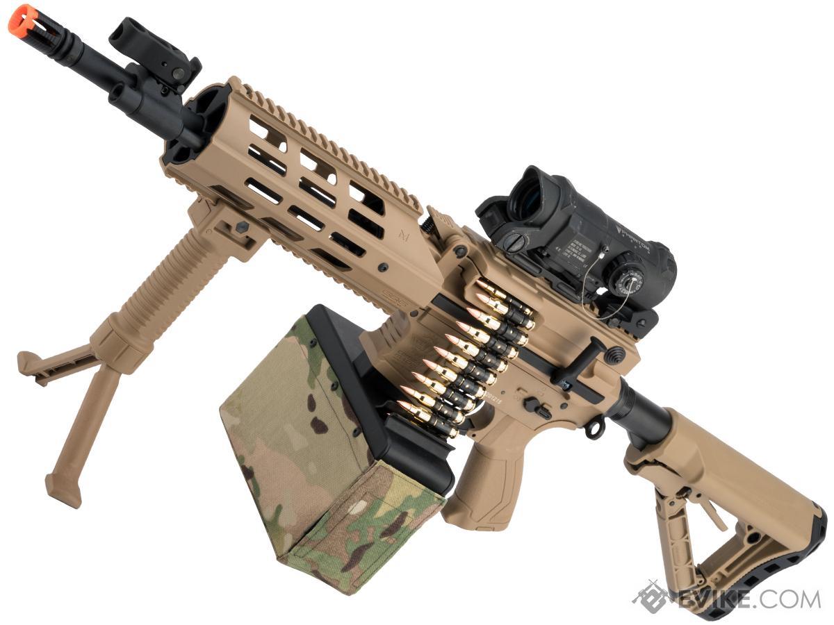G&G CM16 LMG Airsoft AEG Light Machine Gun (Color: Tan)