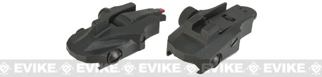 APS Athena Back Up Sights for Airsoft Rifles - Black
