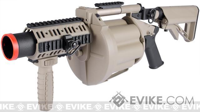 ICS MGL Full Size Airsoft Revolver Grenade Launcher (Color: Tan)