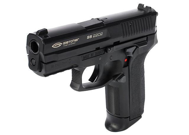 Gletcher SS 2022 Co2 Powered BB Pistol (.177cal Airgun NOT AIRSOFT) - Metal Slide