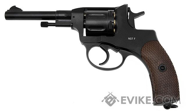 Gletcher NGT-F Co2 Powered .177mm Revolver (.177 AIRGUN NOT AIRSOFT) (Color: Black)