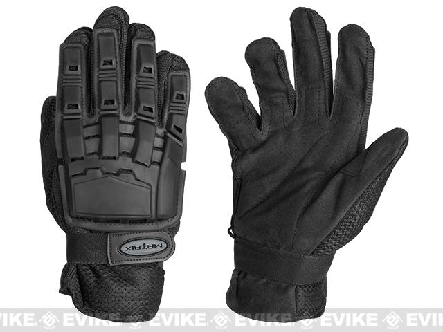 Matrix Full Finger Tactical Gloves (Color: Black / Large)