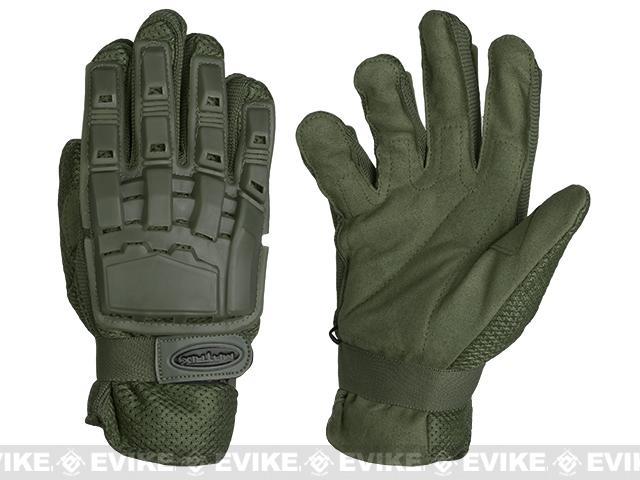 Matrix Full Finger Tactical Gloves - OD Green (Size: Large)
