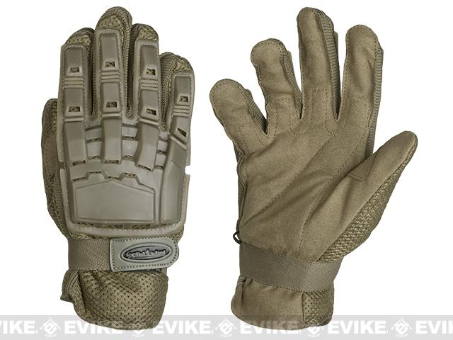 Matrix Full Finger Tactical Gloves - Tan (Size: Large)