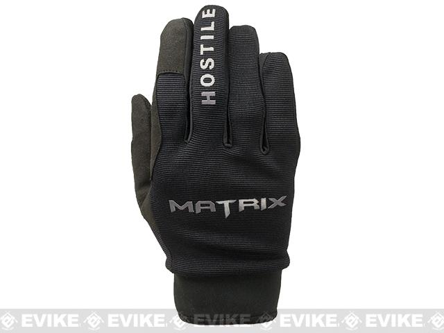 Matrix Sierra Hostile Action  Tactical Combat Gloves by Valken - Black (Size: Medium)