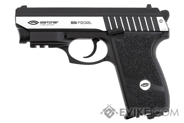 Gletcher SS P232L CO2 Powered Airgun with Integrated Laser (4.5mm AIRGUN NOT AIRSOFT)