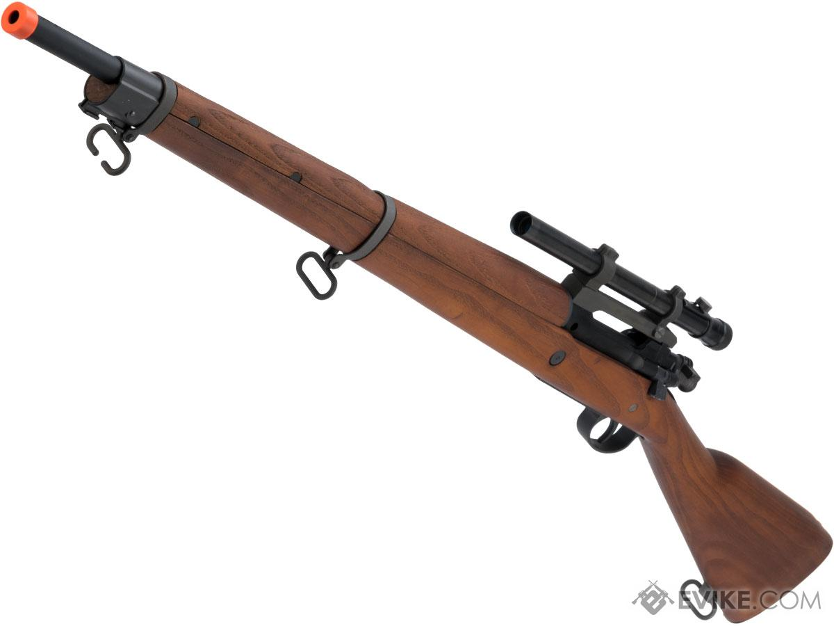 G&G Top Tech GM1903 A4 Airsoft Green Gas / CO2 Gas Rifle with Real Wood Furniture