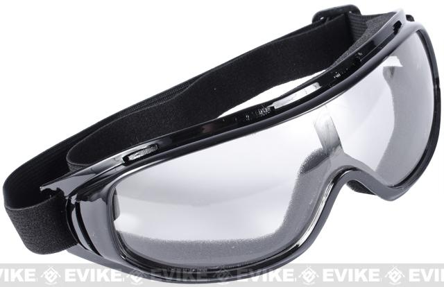 Edge Tactical Anti-Fog UV-400 Polycarbonate Lens Goggle - Clear
