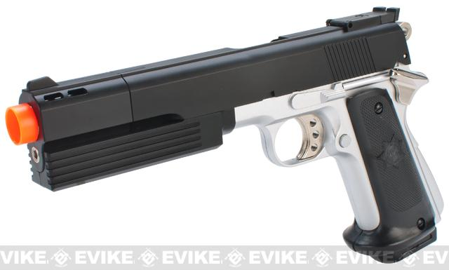 HFC Full Size 1911 Super Killer Combat .45 Airsoft Gas Pistol (Color: Two Tone)
