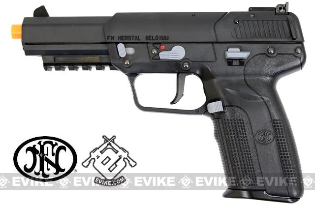 FN Herstal FN-57 Airsoft CO2 Gas Blowback Pistol by Marushin (Color: Black)