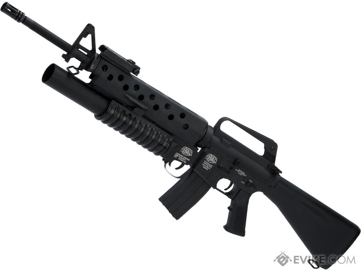 G&P Scar Face M16A1 VN w/ M203 Grenade Launcher Airsoft AEG Rifle and i5 Gearbox (Package: Gun Only)