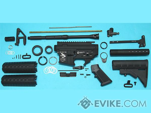 G&P Full Metal M4 WOC Airsoft Gas Blowback Rifle Challenge Kit (Model: Skull Frog)