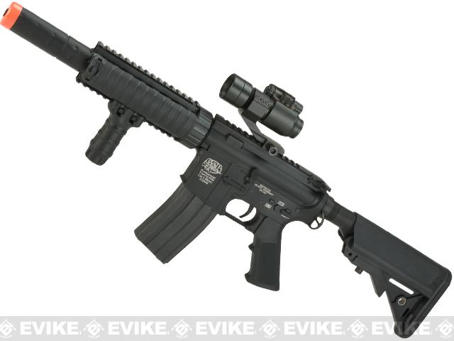 Evike Custom Class I G&P M4 CQB-R Airsoft AEG Rifle w/ Crane Stock - Black (Package: Gun Only)