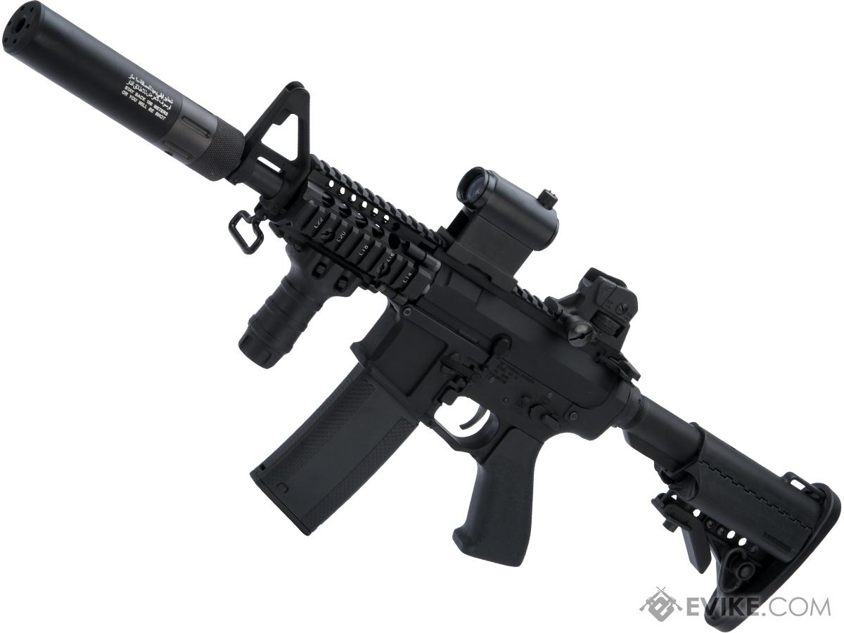 Evike.com G&P Rapid Fire II Airsoft AEG Rifle w/ QD Barrel Extension and i5 Gearbox (Package: Black / G&P + Battery/Charger)