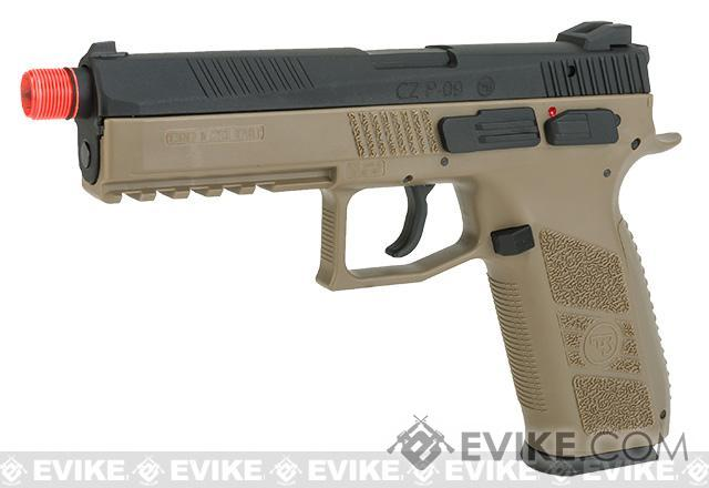 Pre-Order ETA March 2018 ASG CZ P-09 Suppressor Ready CO2 Airsoft GBB Pistol (Color: Flat Dark Earth)