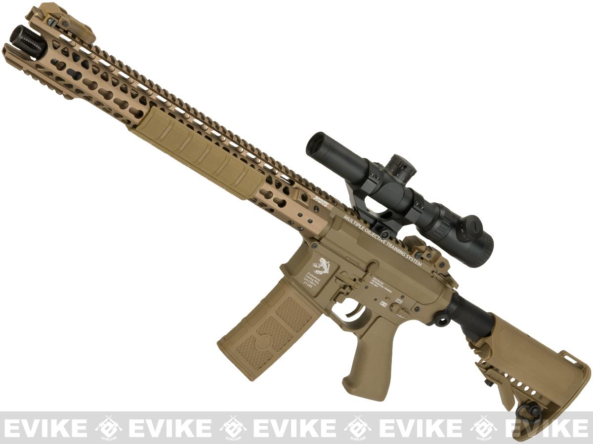 G&P Wire Cutter 16 Keymod M4 Carbine Airsoft AEG Rifle (Package: Dark Earth / Add Battery + Charger)