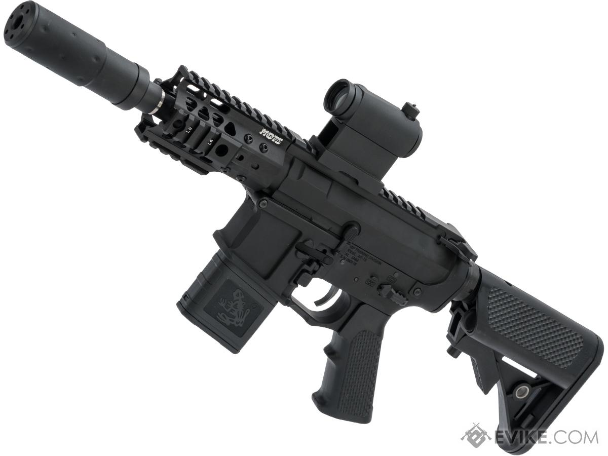 G&P Golf Ball Texture M4 PDW Airsoft AEG Rifle w/ i5 Gearbox (Package: Black / Gun Only)