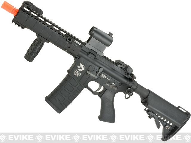 G&P 8 KeyMod Full Metal WOC Gas Blowback Airsoft Rifle - Black