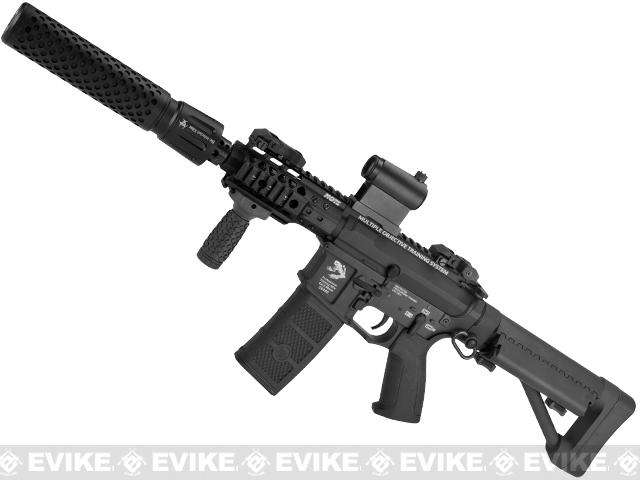 G&P FRS CQB M4 SBR Airsoft Electric Recoil AEG Rifle with QD Barrel Extension (Package: Black / Add Battery + Charger)