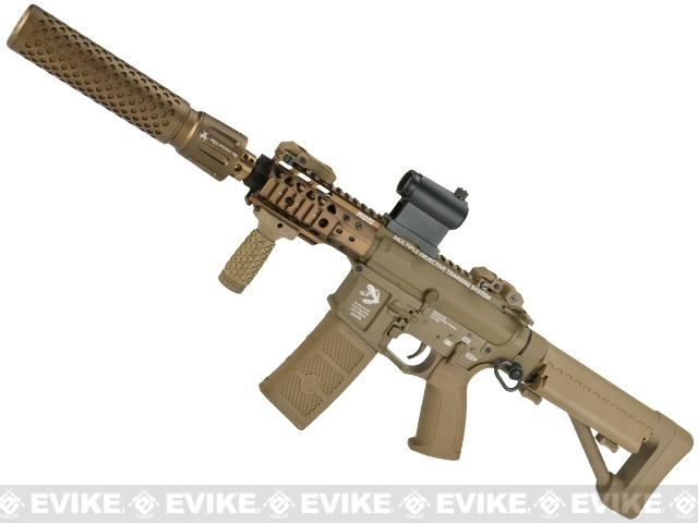 G&P FRS CQB M4 SBR Airsoft Electric Recoil AEG Rifle with QD Barrel Extension  (Package: Dark Earth / Add Battery + Charger)