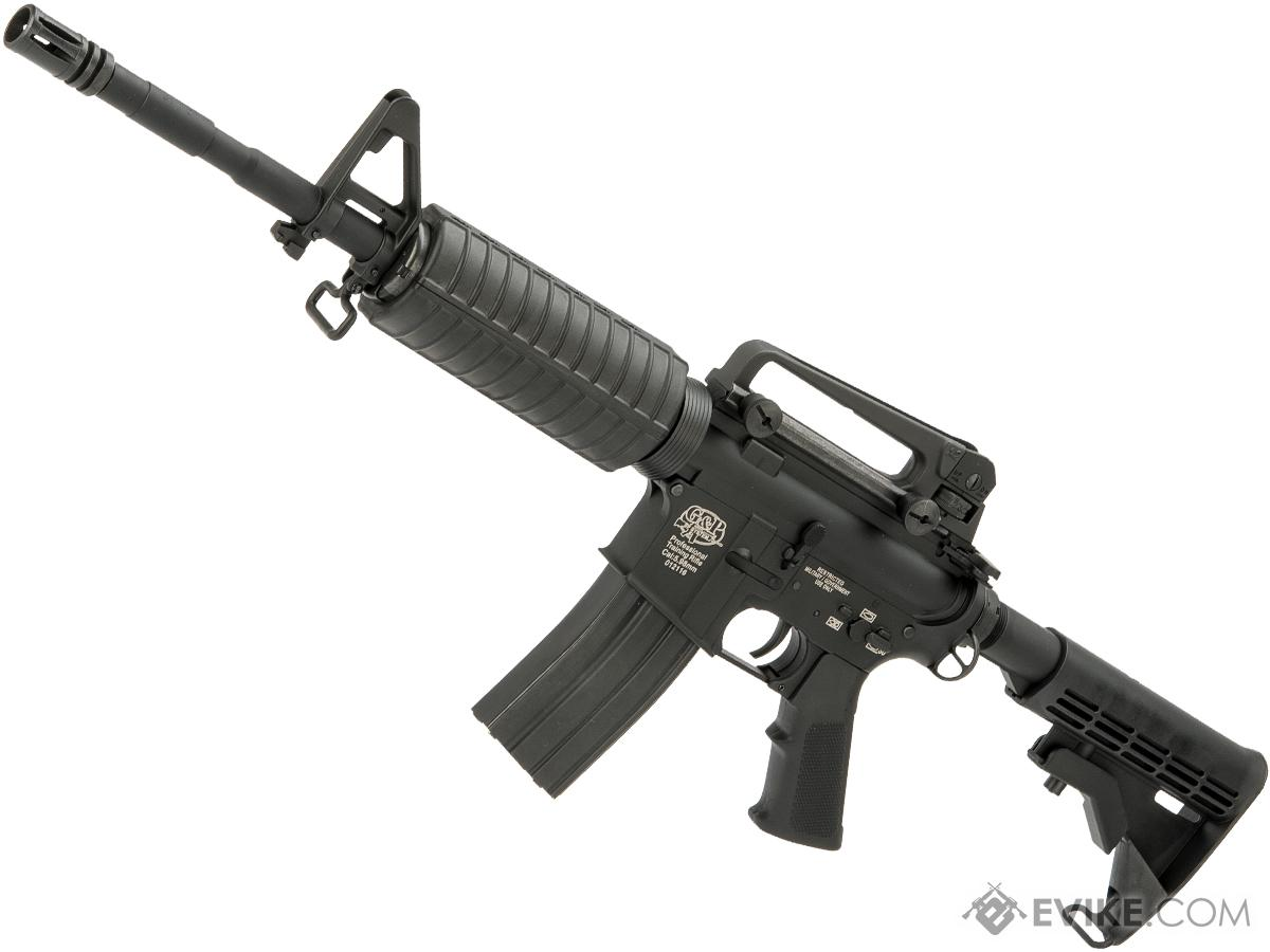 G&P Full Metal Advanced M4 Carbine AEG w/ LE Stock (Model: Black / Front Wired)