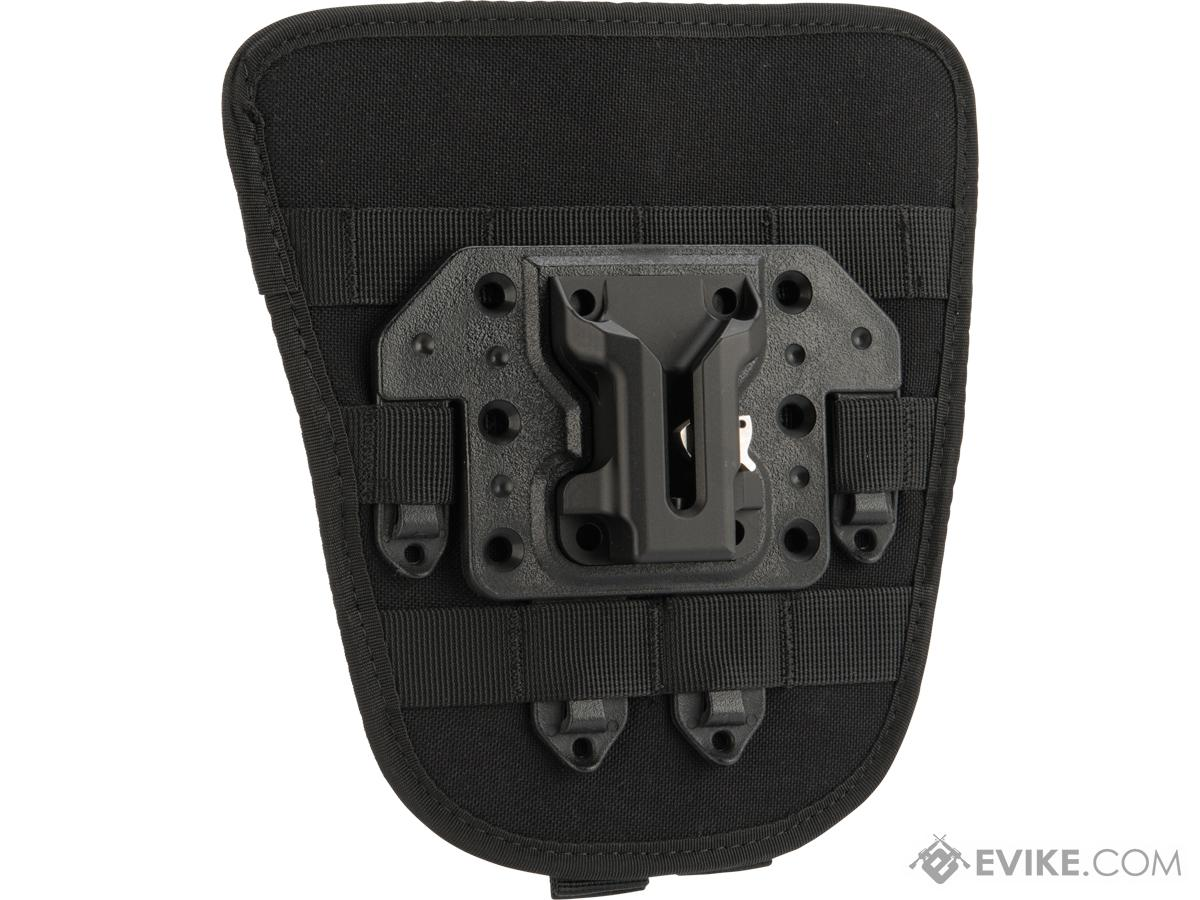 G&P STRIKE Quick Detach Weapons Catch System with MOLLE Hip Pad (Color: Black)