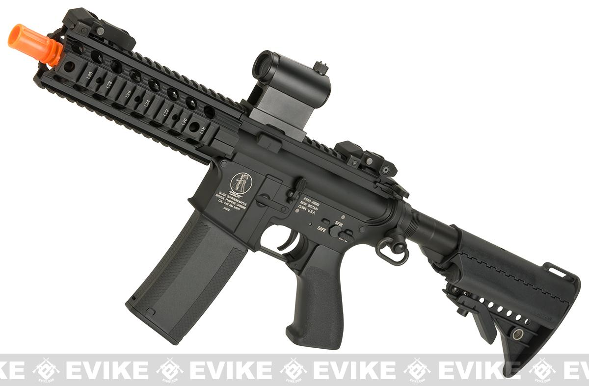 z Evike Custom Madbull Licensed Troy Industries M7A1 Custom Airsoft AEG (Package: Add Battery + Charger)