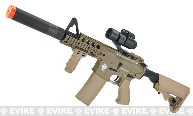 Evike.com G&P Rapid Fire II Airsoft AEG Rifle w/ QD Barrel Extension  (Package: Tan / Evike.com Receiver / V2 / Gun Only)