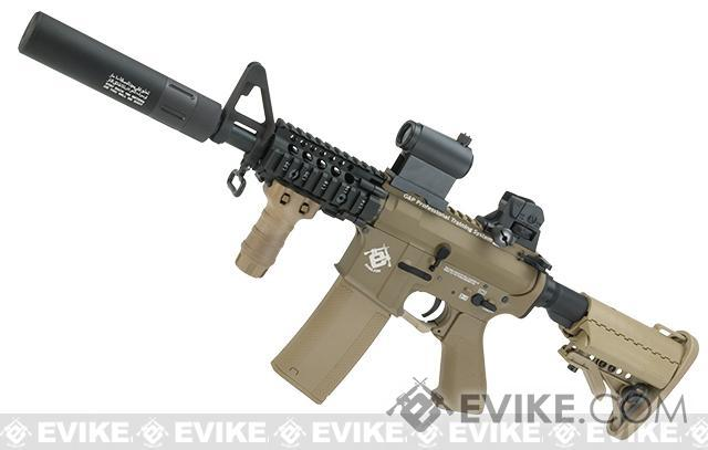 Evike.com G&P Rapid Fire II Airsoft AEG Rifle w/ QD Barrel Extension  (Package: Tan / Evike.com Receiver /  Battery + Charger )