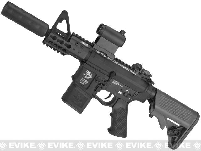 z G&P Golf Ball Texture Keymod M4 PDW Airsoft AEG Rifle - Black (Package: Add Battery + Charger)