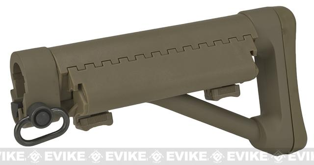 G&P Shorty Maritime II Fixed Stock for M4/M16 Airsoft AEGs (Color: Sand)