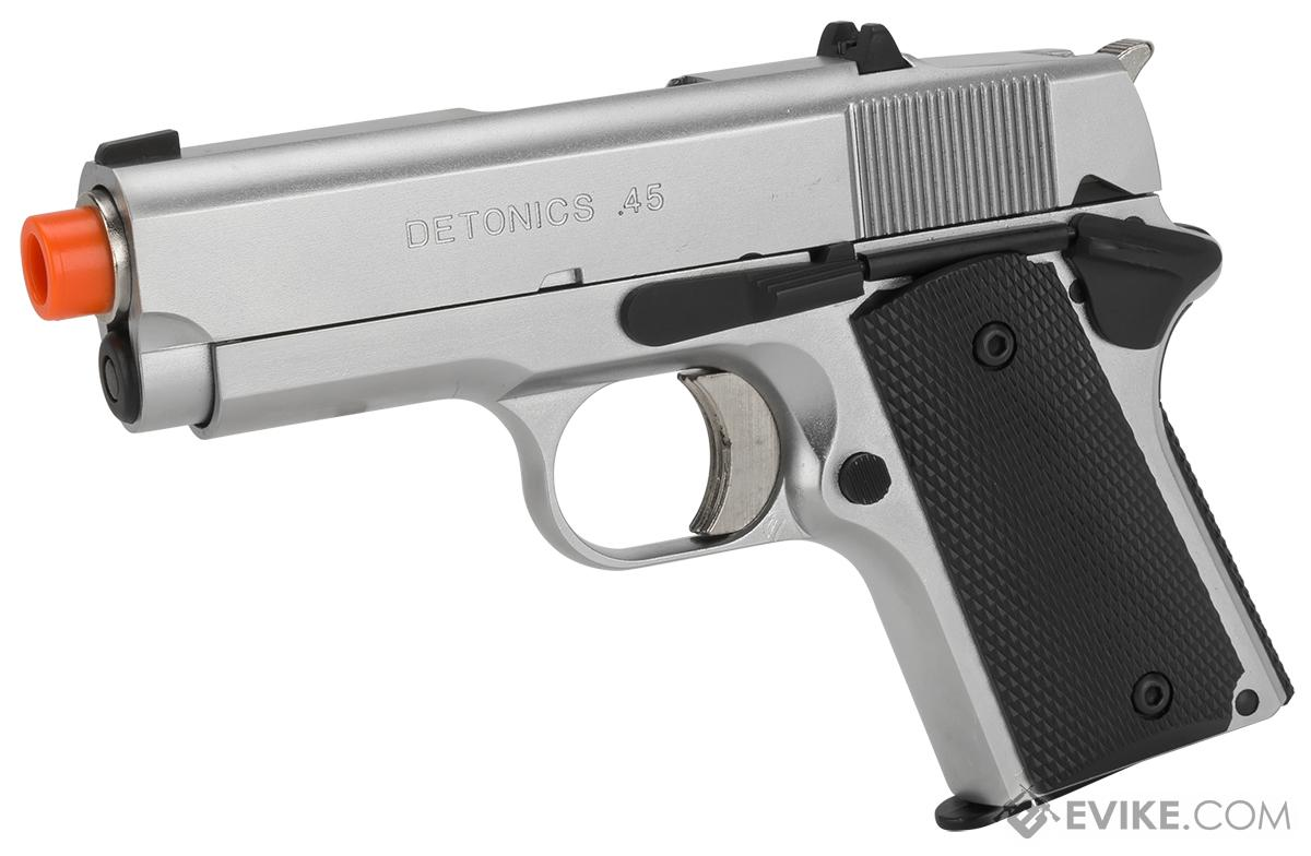 Pre-Order ETA May 2018 Matrix Elite Detonics 1911 .45 Combat Master Airsoft Gas Blowback Pistol (Model: Silver)