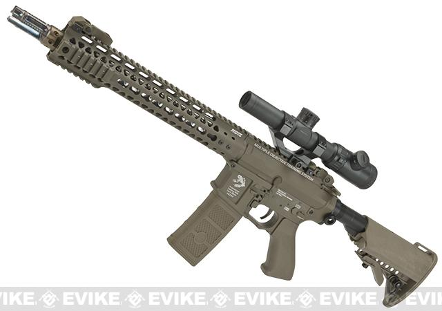 G&P FRS MOTS Keymod M4 Carbine Airsoft Electric Recoil AEG Rifle (Package: Dark Earth / Add Battery + Charger)