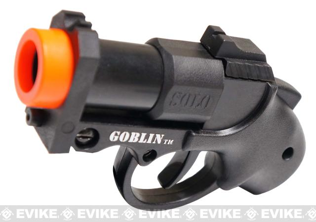 z Goblin SOLO Airsoft Compact Shotgun Paintball Launcher Marker Set - Black
