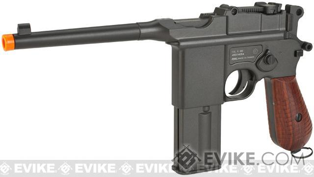 Pre-Order ETA April 2018 KWC M712 Broomhandle Full-Auto Full Metal Airsoft Co2 Gas Pistol