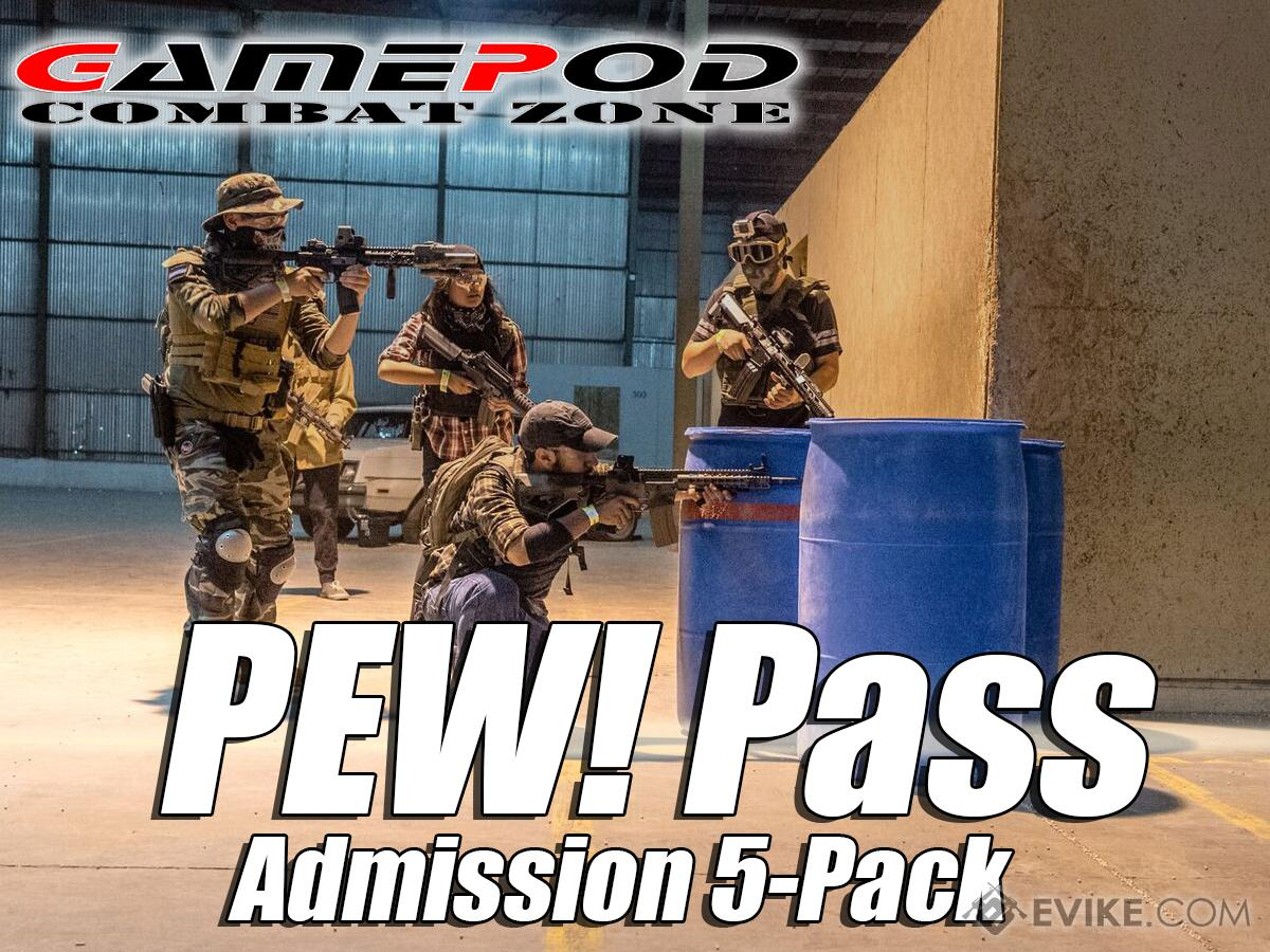 Gamepod Combat Zone Field PEW! Pass (Type: Regular Admission 5 Entries)