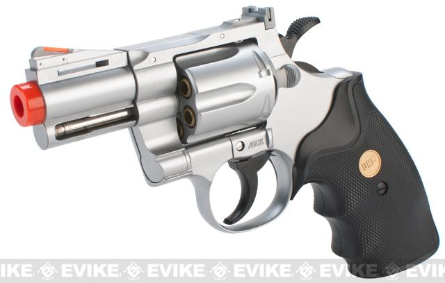 UHC C0bra Heavy Weight Gas Powered Revolver (Length: 2.5 / Silver with Black Grips)