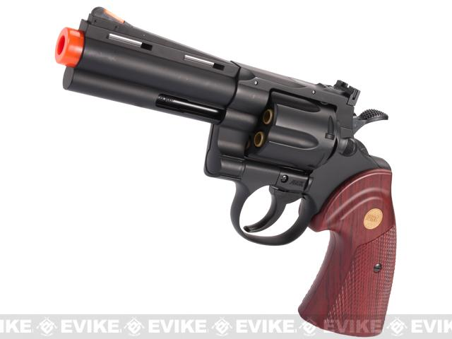 UHC Cobra Gas Revolver (Length: 4 / Black with Imitation Wood Grips)