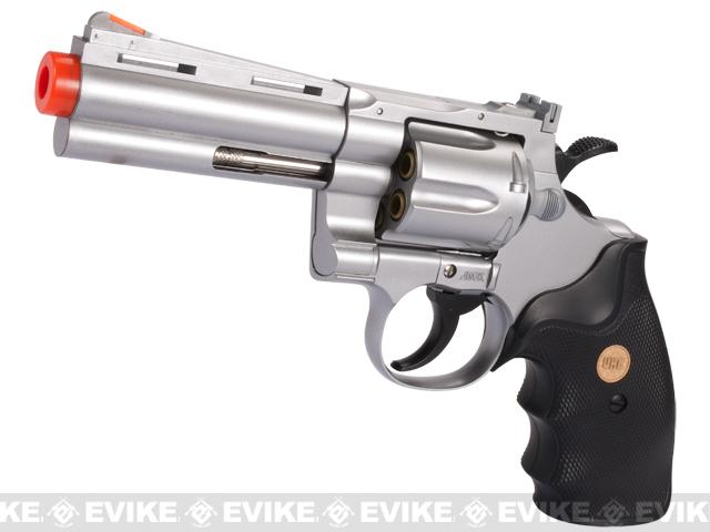UHC Cobra Heavy Weight Gas Powered Revolver (Length: 4 / Silver with Black Grips)