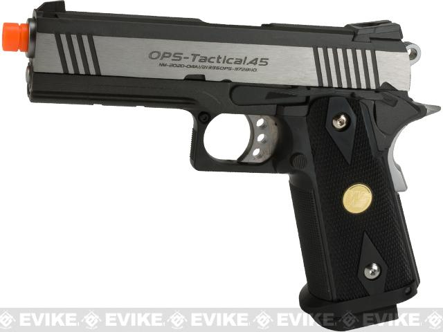 Pre-Order ETA December 2017 WE-Tech Dual Tone Hi-CAPA 4.3 2011 Full Metal Airsoft Gas Blowback Pistol