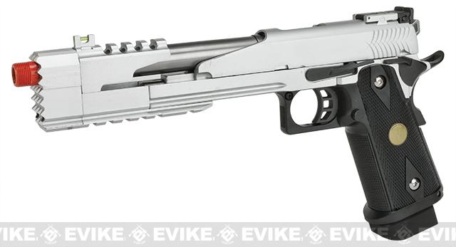 WE-Tech 7 Xcelerator Dragon Full Metal Hi-CAPA Airsoft Gas Blowback (Color: Silver / Medallion Grip)