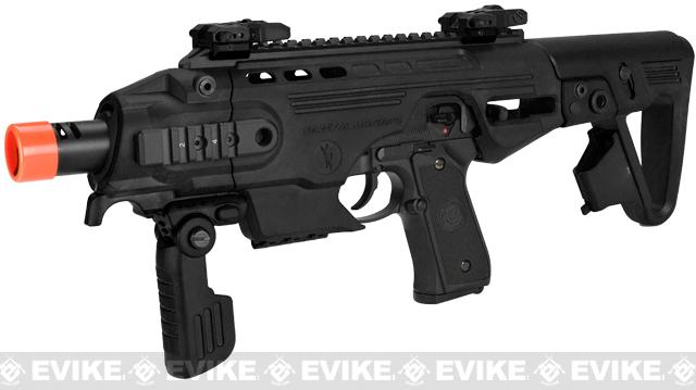 Completed Build CAA Airsoft Roni Carbine Airsoft GBB SMG Pistol (Build: M9 / Black)