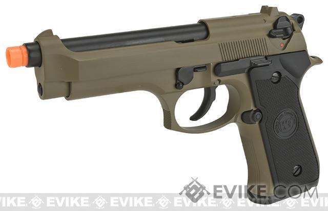WE-Tech Full Metal M9 Heavy Weight Airsoft GBB Professional Training Pistol (Color: Tan)