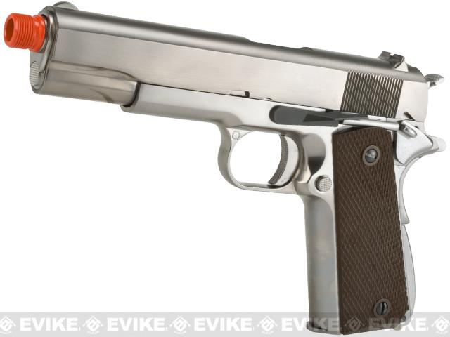 WE-Tech Full Metal 1911 GI Full Size Airsoft GBB Pistol (Color: Silver)