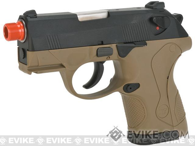 Bulldog Compact Airsoft Gas Blowback GBB Pistol by WE (Color: Tan)