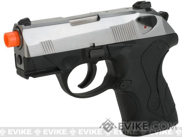 Bulldog Compact Airsoft Gas Blowback GBB Pistol by WE (Color: Silver)
