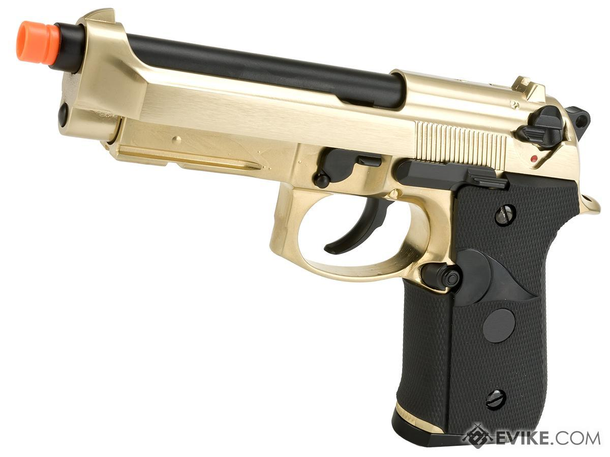 WE-Tech M9A1 Full Metal Gas Blowback Pistol (Color: Gold)