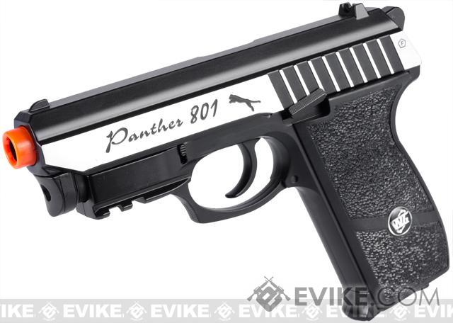 Panther P-801 Full Metal Airsoft CO2 Gas Blowback High Power Hand Gun w/ Integrated Laser by Win Gun (Color: Two-Tone)