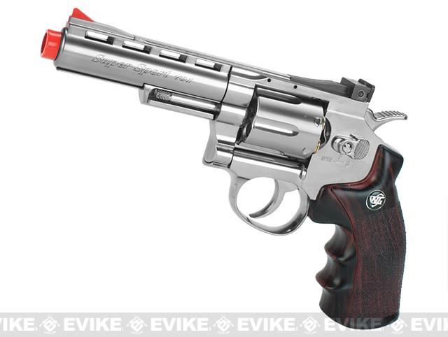 WG CO2 Full Metal High Power Airsoft 6mm Magnum Gas Revolver (Length: 4 / Chrome)