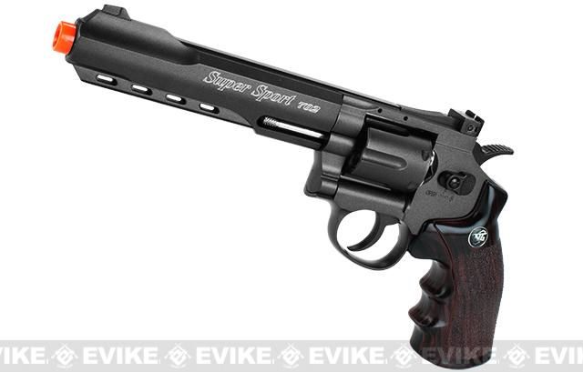 WG CO2 Full Metal High Power Airsoft 6mm Magnum Gas Revolver (Length: 6 / Black)